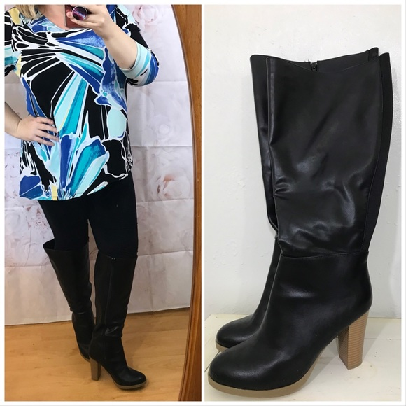 9df51a13bad Lane Bryant knee high boots heels wide calf width.  M 5aea110b61ca1064493573be